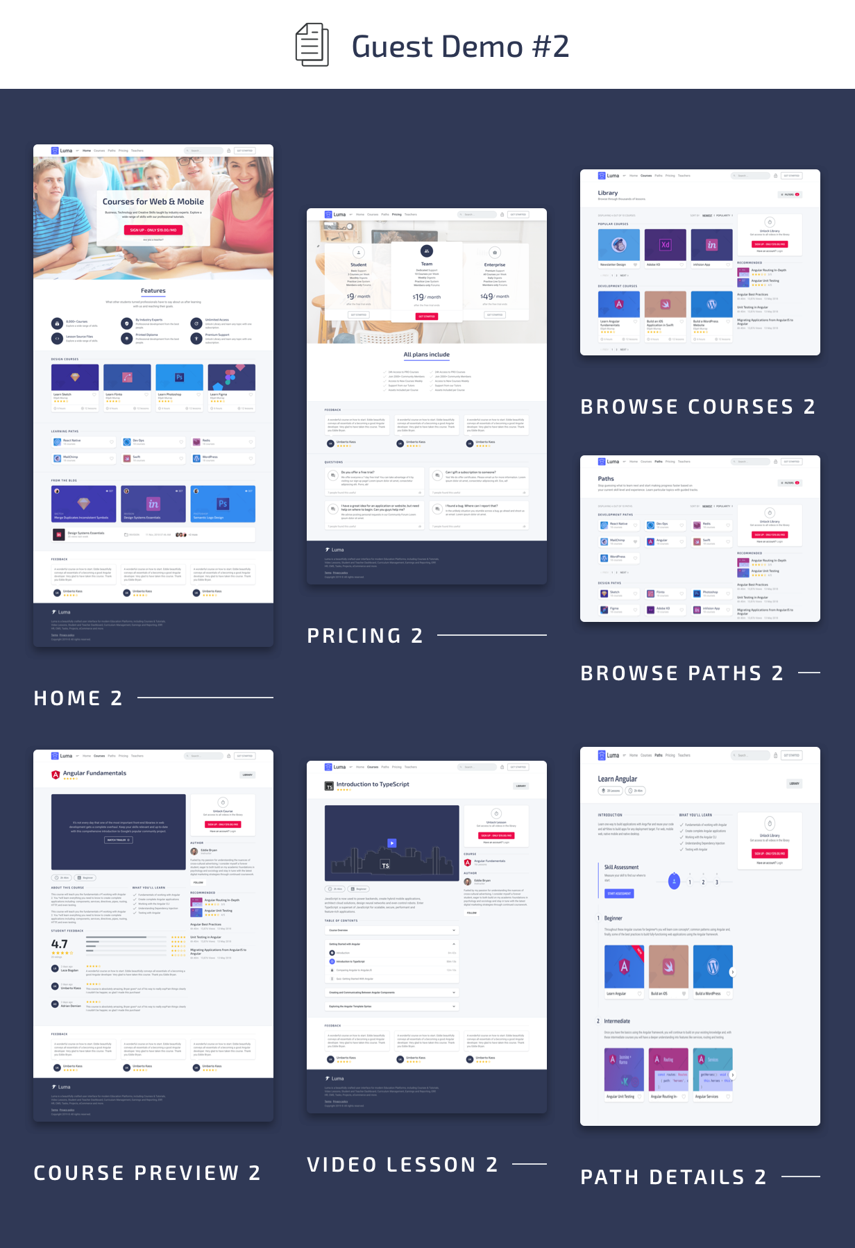 Guest Pages #2 - Luma HTML Education & Learning Management System Admin Template