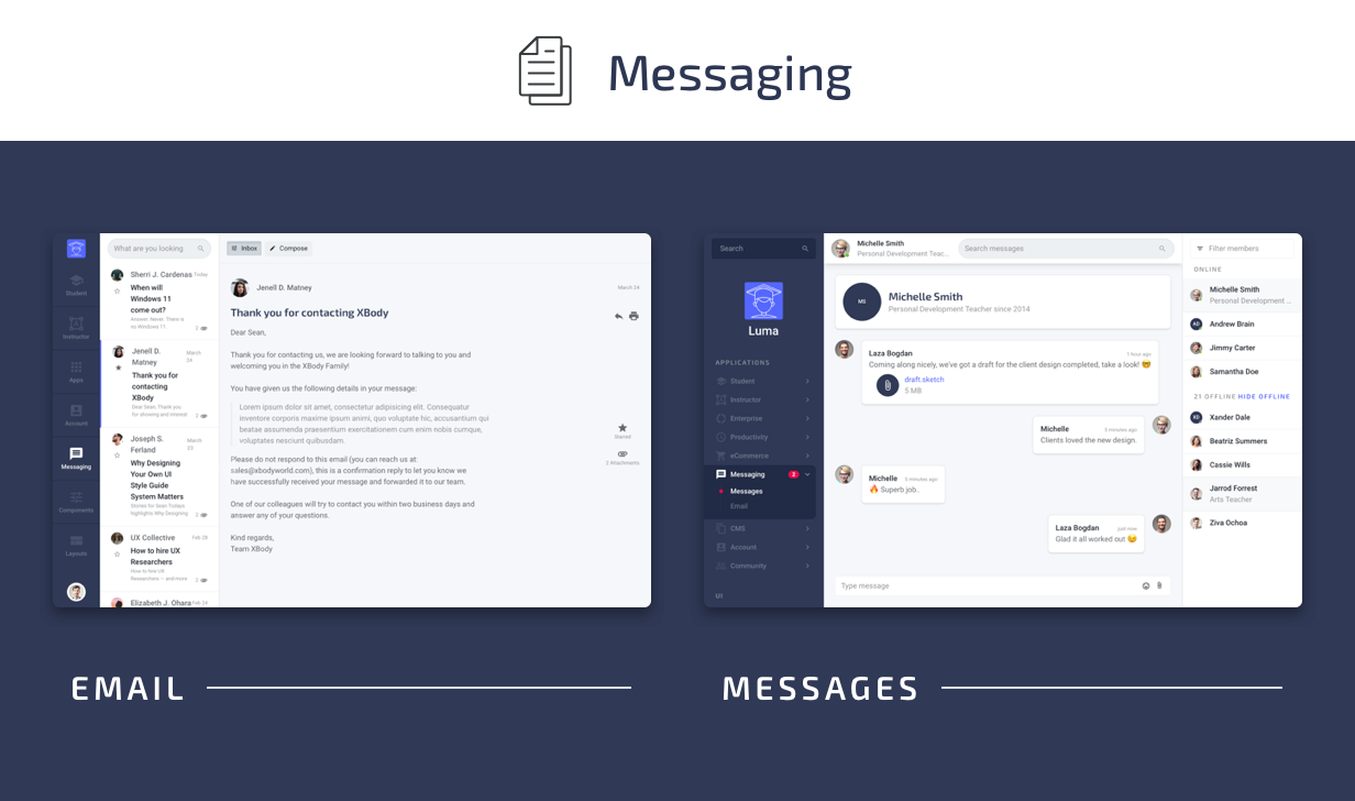 Messages - Luma HTML Education & Learning Management System Admin Template