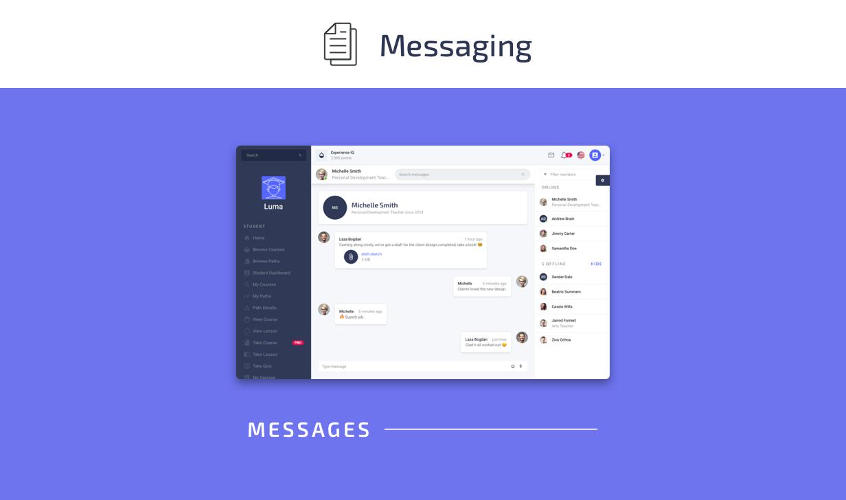 Messaging Pages - Luma Laravel