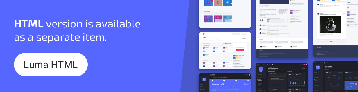 Luma HTML - Education Learning Management System Admin Template
